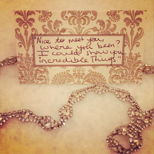 A picture of one of Taylor's lyrics that she shared on online.